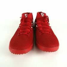 Adidas Dame 4 Lillard Scarlet Red White Basketball Shoes B76013 Men's Size 18