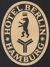 Hotel Koffer Etikett / luggage label - Hotel Berlin Hamburg Germany