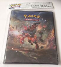 Ultra Pro Pokemon Sun & Moon 4 Pocket Portfolio Trading Card Folder Binder Album