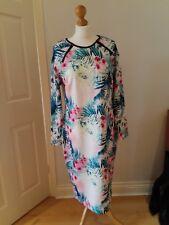 Papaya Weekend Size 18 Tropical Floral Print Long Sleeved Bodycon Dress BNWOT