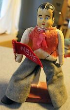 ANTIQUE 1925 NEW BEDFORD HIGH SCHOOL Pennant FLAG Doll TOY Uniform VINTAGE Mass