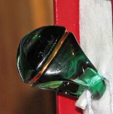 BACCARAT MEDICIS Pyramid 51 size 5.5 EMERALD crystal RING 18kt jewelry MIB