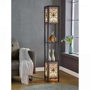 Modern Floor Lamp Display Shelves Home Living Room Decor Accent Decorative Panel