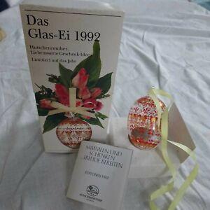 Hutschenreuther Ei Glas Ei von 1992 limitiert mit OVP *