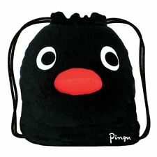 Retro Pingu Plush Drawstring Duffle Bag - Black Retro Cartoons School Gym kids