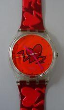 Swatch Dummy GK237 Pounding Heart mit neuwertigem Band - valentine special 1997