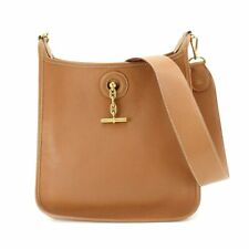 HERMES Vespa PM Shoulder Bag Traurillon Clemence Gold Purse 90087451