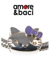 BNIB AMORE & BACI sterling silver & enamel HELLO KITTY PORTRAIT charm bead