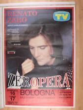 [MI  0288-A]POSTER CONCERTO RENATO ZERO. ZERO OPERA 16-05-1993 BOLOGNA 70X100