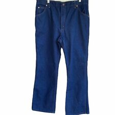 Sears Roebucks Jeans Mens 40 x 30 actual 38 in Straight Denim Dark Vtg 70s USA