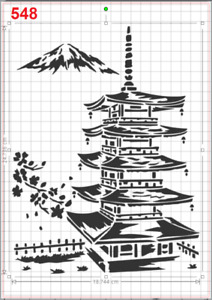 Chinese Japanese Temple Stencil MYLAR A4 sheet strong reusable artcraft walldeco