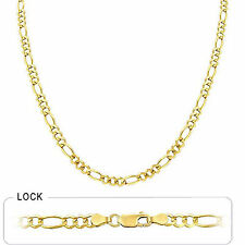 """4.80mm 30"""" 19 gm 14k Solid Gold Yellow Men's Women's Figaro Open Chain Necklace"""