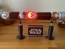 More details for star wars lightsaber with working crystal, emitter & display. inc display stand