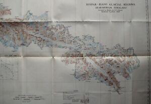 1939 - KARAKORAM - ERIC SHIPTON MOUNTAINEERING HISPAR GLACIER HIMALAYA + MAP