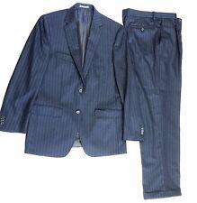 NEW $795 Peter Millar Men's Navy Twill Chalk Stripe Wool 2PC Two-Button Suit 40R