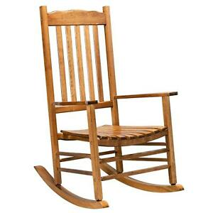 Wooden Rocking Chair Porch Rocker High Back Garden Seat Sofa Indoor Outdoor Teak