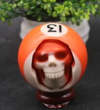 131g Hand Carved! Head Human Skull in Billiard Pool Ball Billiard + stand