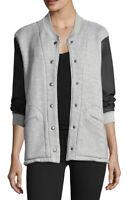 "NWT Womens Current/Elliott Snap Front ""The Classic Varsity Jacket Sz 1 Small"