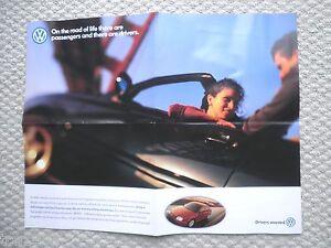1999 Volkswagen VW Brochure/POSTER: PASSAT,JETTA,GOLF,CABRIO,New BEETLE,