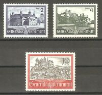 DR Nazi 3rd Reich Rare WW2 Stamp Set Castle Hitler's Occupation Poland Swastika
