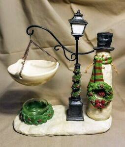 Yankee Candle Christmas Holiday Snowman Wreath Lamppost Hanging Tart Warmer