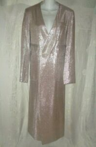 New MACGRAW Long Silver Coat 4 $700