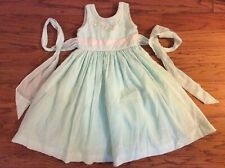 Will'Beth Toddler Girls Mint Green embroidered flowers dress 3T