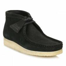 Clarks Originals Mens ** Wallabees Boots , Black  Suede ** UK 6,7,8,9,10,12,13 G