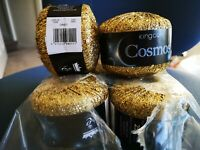 Cosmos Glitter Knitting Yarn King Cole 25g Ball Metallic Sequin Thread