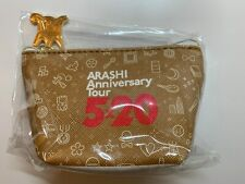 """Arashi Anniversary Tour """"5x20 and more"""" Official Concert Good-Coin Purse(NEW)"""