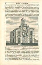 Pompe-Fontaine Samaritaine sur le Pont-Neuf Paris GRAVURE ANTIQUE OLD PRINT 1835