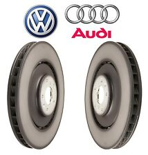 Audi A8 Quattro S6 S7 S8 Pair Set of Front Left and Right Disc Brake Rotors OES