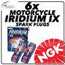 6x NGK Bougies D'Allumage Iridium Ix pour Honda 1500cc Gl1500ct ( Gold Wing )