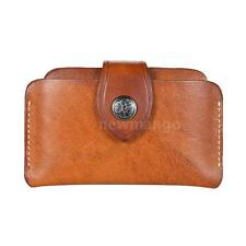 NEW Business Leather Classic 3-Layer ID Credit Card Holder Bag Wallet Purse V8L6
