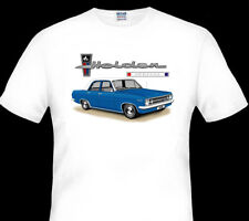1967 HOLDEN HR  SPECIAL  SEDAN  QUALITY WHITE T-SHIRT ( 9 CAR COLOURS)  BIG FIT