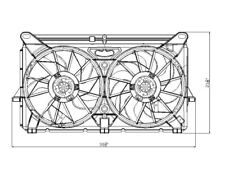Dual Radiator and Condenser Fan Assembly Lower TYC 622230