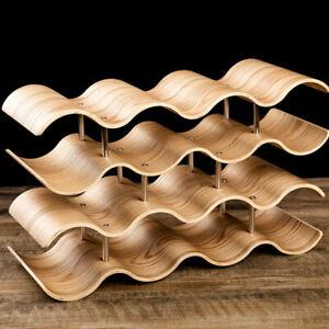 Wooden Wave Wine Rack/Creative Home Grape Wine Holder Shelf Cabinet/Bottle Rack