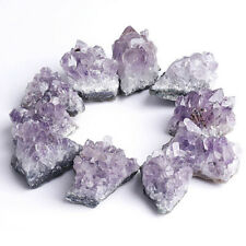 Natural Amethyst Raw Purple Crystal Cluster Stone Craft Healing Rock Collectable