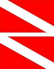 2x Sticker adesivi adesivo bandiera dive scuba diver diving immersioni