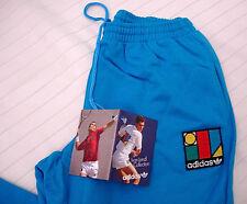 '80 Pantaloni tuta ADIDAS Ivan Lendl, taglia 16 anni, vintage, azzurro, Nuovi.-