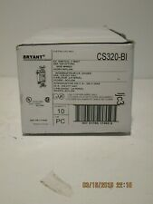 Bryant CS320-BI Ivory 3-WAY Toggle, Side Wired Only, 20A,120-277 VAC,10-PACK NEW