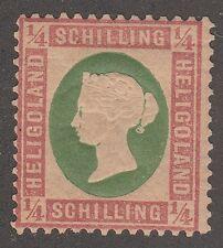 Kappysstamps M2265 German Heligoland Scott # 8 Yel Gr Mint Hinged Catalog = $135