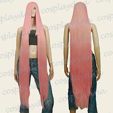 """50"""" Heat Resistant Long Straight Wigs w 22"""" long Bangs Milkshake Pink Wig 99KPN"""
