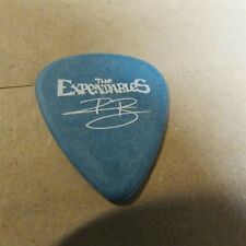 New listing The Expendables Raul Bianchi Teal & White Tour Signature Guitar Pick