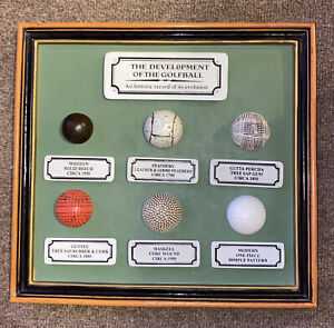 "DEVELOPMENT OF THE GOLF BALL Wall Plaque 10.2""x11"""