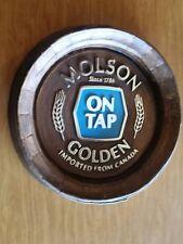 Molson Golden On Tap Barrel beer sign