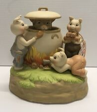 Quon Quon Music Box ~ 3 Three Little Pigs Who's Afraid of the Big Bad Wolf