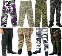 Kids Camouflage Military BDU Fatigue Pants Trousers Boys