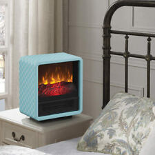 Duraflame Personal Fire Cube Electric Heater Fireplace, Turquoise  FREE SHIPPING