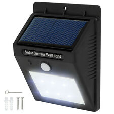 Lámpara energía solar exterior 6 LED de pared de jardín movimiento pir sensor